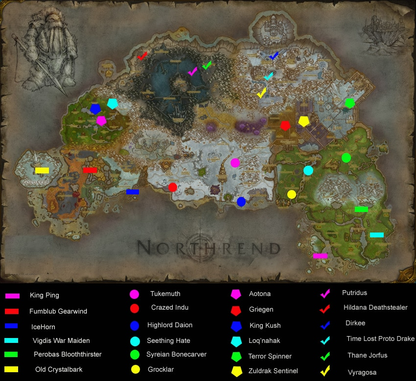 world of warcraft map northrend. Map: