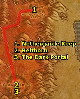 how to get to blasted lands from orgrimmar wod